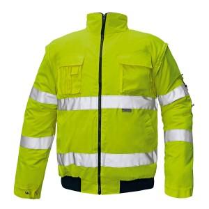 Сигнальная куртка утепленная 2 в 1
