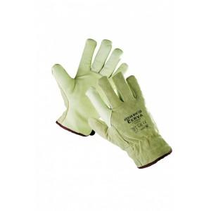 Утепленные кожаные перчатки