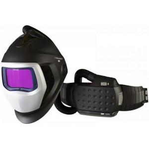 Шлем сварщика с респиратором позитивного давления